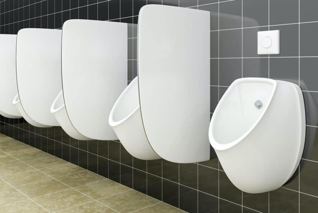 photo of a male public restroom